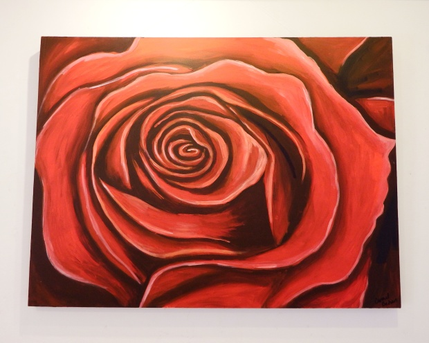 Rose Acrylic on Canvas 40x30 €400 SOLD