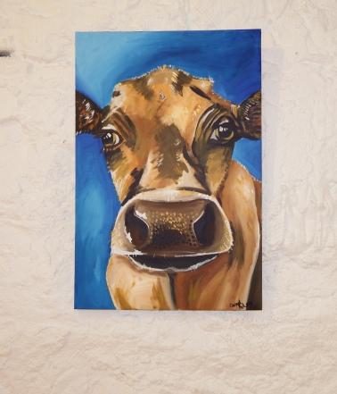 Brown Cow Acyrlic on Canvas 20x30 €200