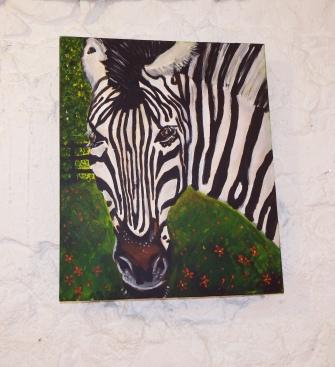 Zebra Acrylic on Canvas 19.5 x 23.5 €200