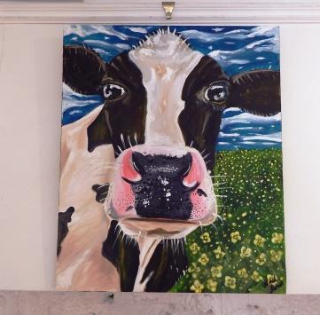 Freisian Cow Acrylic on Canvas 20x24 €200