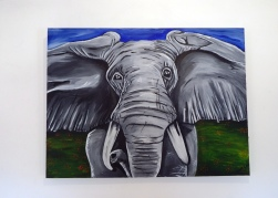Elephant Acrylic on Canvas 40x30 €350