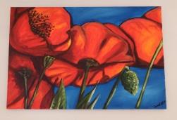 Poppies & Blue Sky Acrylic on Canvas 30x20 €200