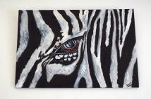 Zebra Eye Acrylic on Canvas 30x20 €230