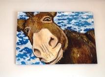 Nosey Donkey Acrylic on Canvas €240