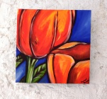 ulip Acylic on Canvas 16x16 €100