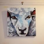 Gary the Sheep Acrylic on Canvas 16x16 €100