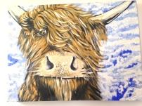 Highland Sky Acylic on Canvas 30x30 SOLD