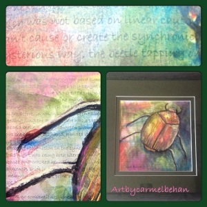 Detail: Lisa's scarab beetle, story of synchronicity,Jung