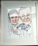First wedding anniversary present framed