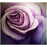 Purple Rose 25x30 Acrylic on Canvas SOLD