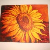 Sunflower 25x30 Acrylic on Canvas SOLD