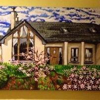 Clodaghs Home Acrylic on Canvas SOLD