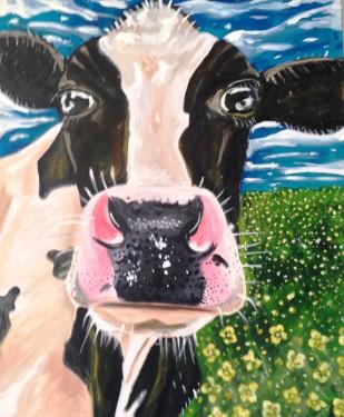Freisian Cow Acrylic on Canvas 20x24 €350
