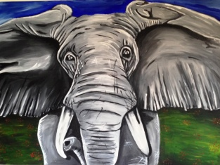 Elephant Acrylic on Canvas 40x30 €500