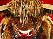 Highland Red, Acylic on Canvas SOLD