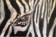 Zebra Eye Acrylic on Canvas