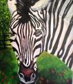 Zebra Acrylic on Canvas 19.5 x 23.5 €350
