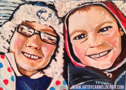 Children Commission Portrait, Acrylic on Canvas
