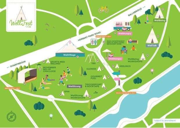 map ( credit www.wellfest.ie)